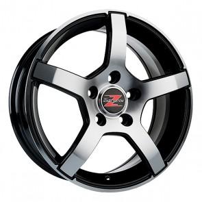 4.5x13/4x100 CB57.1 ET30 Barzetta Carrello Black Polished